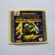 Videojuegos y Consolas: ETIQUETA PEGATINA TORTUGAS NINJA 3 NINTENDO GAME BOY GAMEBOY . Lote 191354362