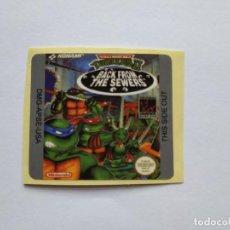 Videojuegos y Consolas: ETIQUETA PEGATINA TORTUGAS NINJA 2 NINTENDO GAME BOY GAMEBOY . Lote 191354367