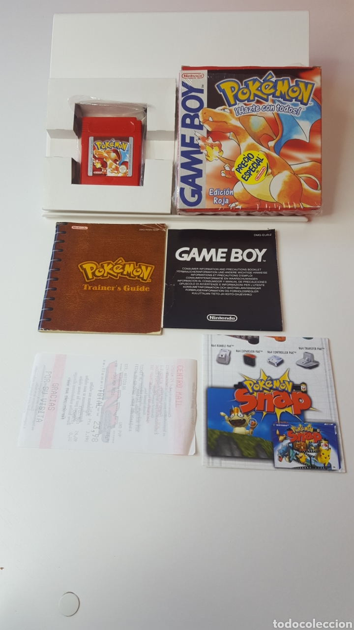 POKEMON ROJO GAME BOY (Juguetes - Videojuegos y Consolas - Nintendo - GameBoy)