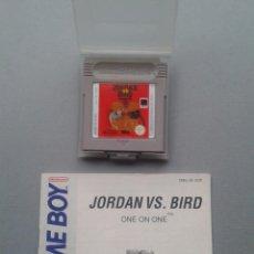 Videojuegos y Consolas: JUEGO NINTENDO GAMEBOY JORDAN VS BIRD CARTUCHO FUNDA Y MANUAL PAL ESPAÑA R10018. Lote 194765190