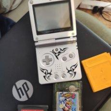 Videojuegos y Consolas: GAME BOY SP + JUEGOS (LEER). Lote 195097688
