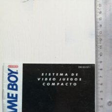 Videojuegos y Consolas: GAME BOY ORIGINAL MANUAL DE INSTRUCCIONES 1990 SISTEMA DE VIDEO JUEGOS COMPACTO NINTENDO. Lote 195539067