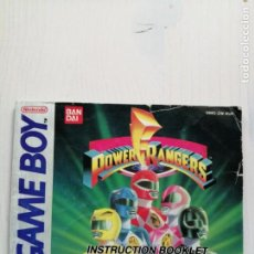 Videojuegos y Consolas: INSTRUCTION BOOKLE ORIGINAL POWER RANGERS GAME BOY MANUAL DE INSTRUCCIONES AÑOS 90 NINTENDO. Lote 195540217