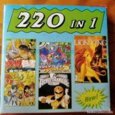 Videojuegos y Consolas: 220 IN 1 - NUEVO EN CAJA- GAME BOY VIDEOJUEGO - ROCKMAN 5- BOMB JACK- SAILOR MOON- LION KING.... Lote 195995077