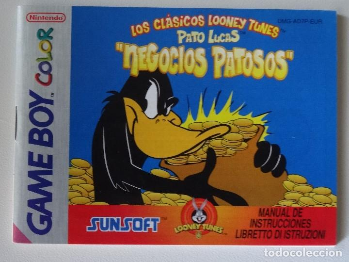 NINTENDO GAME BOY MANUAL LOONEY TUNES PATO LUCAS VERSIÓN ESPAÑOLA ORIGINAL GB (Juguetes - Videojuegos y Consolas - Nintendo - GameBoy)
