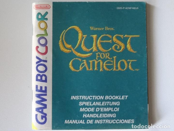 NINTENDO GAME BOY MANUAL QUEST FOR CAMELOT VERSIÓN ESPAÑOLA ORIGINAL GB (Juguetes - Videojuegos y Consolas - Nintendo - GameBoy)