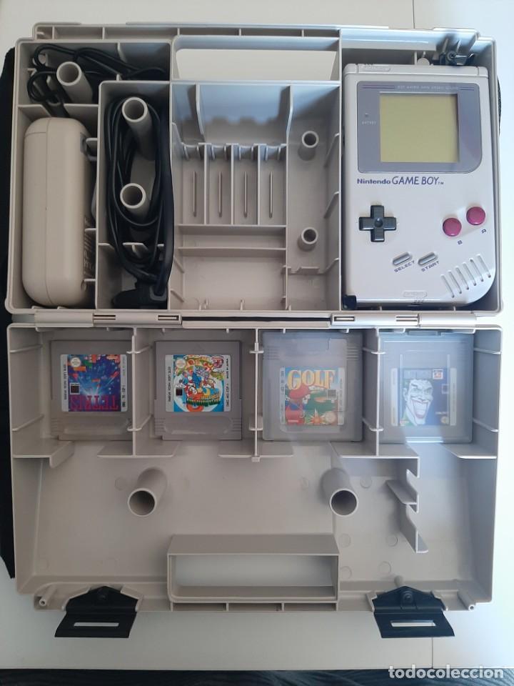 GAME BOY CON MALETIN, BATERIA Y 4 JUEGOS FUNCIONA PERFECTAMENTE (Juguetes - Videojuegos y Consolas - Nintendo - GameBoy)