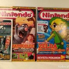 Videojuegos y Consolas: LOTE NÚMS. 178 Y 179 REVISTA OFICIAL NINTENDO ACCION. REVISTA OFICIAL: WII. GAME BOY.. Lote 206182008