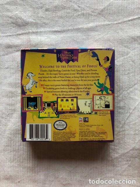 Videojuegos y Consolas: Disneys The Hunchback of Notre Dame Nintendo Gameboy Game boy completo - Foto 3 - 268934154