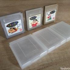 Videojuegos y Consolas: LOTE 3 CARTUCHOS ORIGINALES NINTENDO GAMEBOY SHIN-CHAN 1, 2 Y 3. Lote 207348911