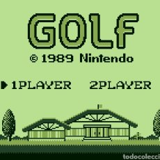 Videojuegos y Consolas: CARTUCHO ORIGINAL NINTENDO GAMEBOY GOLF. AÑO 1989. Lote 207449833