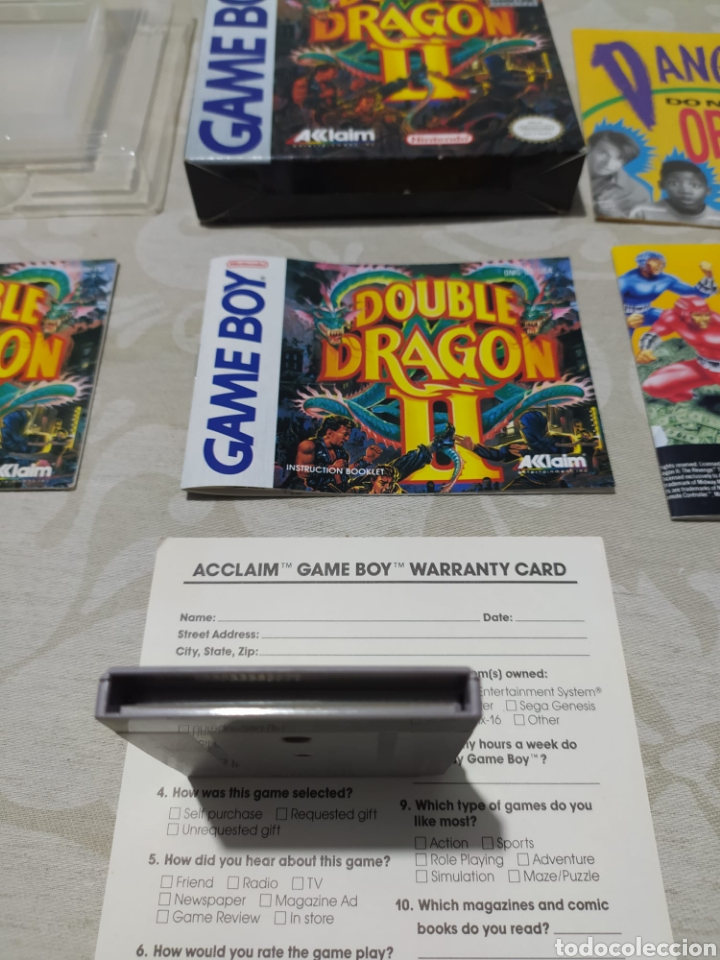 Double Dragon Ii Game Boy Nintendo Version Espa Sold At Auction