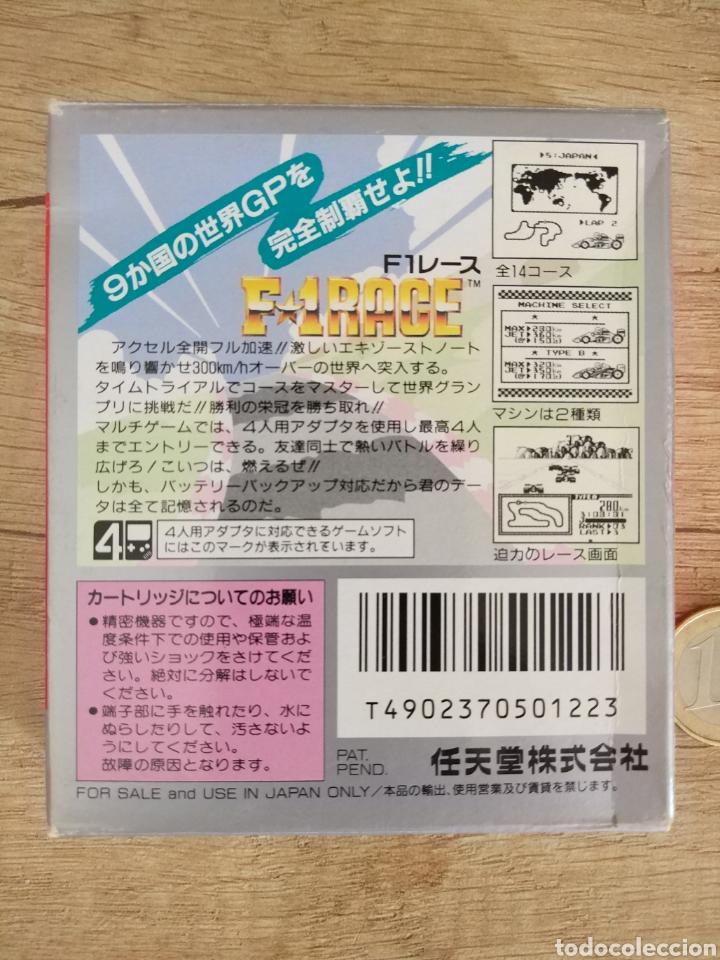 Videojuegos y Consolas: Juego Nintendo GameBoy F-1 RACE Original y Completo. Año: 1990 - Foto 2 - 207943591