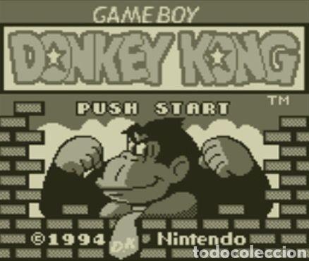 JUEGO NINTENDO GAMEBOY DONKEY KONG. ORIGINAL Y COMPLETO. AÑO: 1994 (Juguetes - Videojuegos y Consolas - Nintendo - GameBoy)