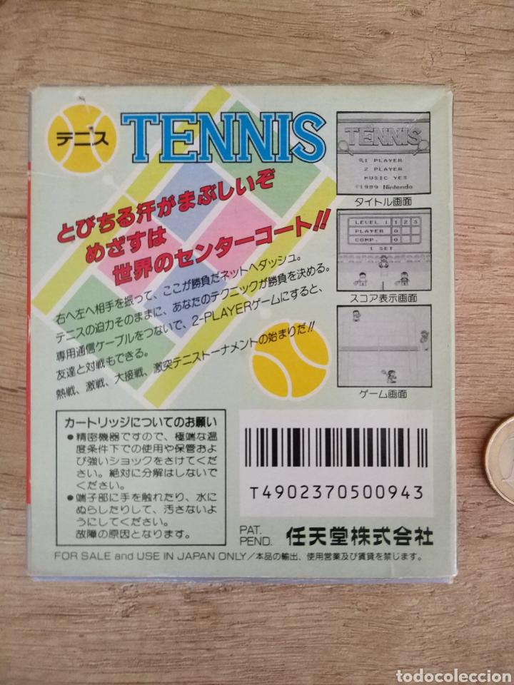 Videojuegos y Consolas: Juego Nintendo GameBoy TENNIS. Original y Completo. Año: 1989 - Foto 5 - 207771022