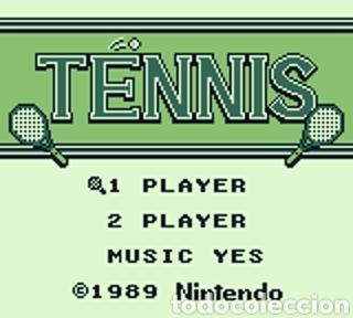 Videojuegos y Consolas: Juego Nintendo GameBoy TENNIS. Original y Completo. Año: 1989 - Foto 3 - 207771022
