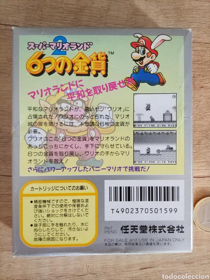 Videojuegos y Consolas: Juego Nintendo GameBoy SUPER MARIO LAND 2. Original y Completo. Año: 1992 - Foto 2 - 207772203