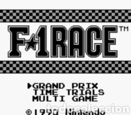 Videojuegos y Consolas: Juego Nintendo GameBoy F-1 RACE Original y Completo. Año: 1990 - Foto 3 - 207943591