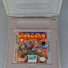 Videojuegos y Consolas: NINTENDO GAMEBOY TOTAL CARNAGE CARTUCHO + FUNDA PAL MUY RARO!! R11168. Lote 210639844