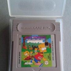 Videojuegos y Consolas: NINTENDO GAMEBOY BART SIMPSONS CAMP DEADLY CARTUCHO+FUNDA ORIGINAL PAL ESPAÑA R11212. Lote 211856260