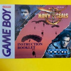 Videojuegos y Consolas: MANUAL DE INSTRUCCIONES GAMEBOY 1990 ORIGINAL NINTENDO NAVY SEALS INSTRUCTION BOOKLET LIBRO LIBRETO. Lote 214322713