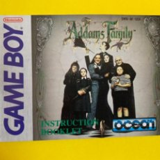 Videojuegos y Consolas: MANUAL DE INSTRUCCIONES GAMEBOY 1991 ORIGINAL THE ADAMS FAMILY NINTENDO INSTRUCTION BOOKLET LIBRETO. Lote 214322898