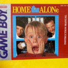 Videojuegos y Consolas: MANUAL DE INSTRUCCIONES SOLO EN CASA GAMEBOY 1991 HOME ALONE NINTENDO INSTRUCTION BOOKLET LIBRETO. Lote 214323091