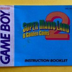 Videojuegos y Consolas: MANUAL INSTRUCCIONES GAMEBOY SUPER MARIO LAND 2 1992 ORIGINAL NINTENDO INSTRUCTION BOOKLET LIBRETO. Lote 214324028