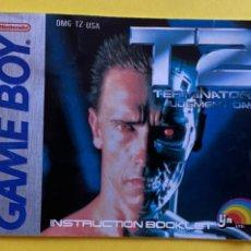 Videojuegos y Consolas: MANUAL DE INSTRUCCIONES GAMEBOY TERMINATOR 2 1991 ORIGINAL NINTENDO INSTRUCTION BOOKLET LIBRETO. Lote 214324235