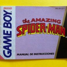 Videojuegos y Consolas: MANUAL DE INSTRUCCIONES GAME BOY THE AMAZING SPIDER MAN EN ESPAÑOL 1990 NINTENDO LIBRETO. Lote 214325398
