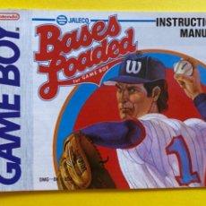 Videojuegos y Consolas: MANUAL DE INSTRUCCIONES GAME BOY BASES LOADED INSTRUCTION MANUAL 1992 NINTENDO LIBRETO. Lote 214325835