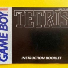 Videojuegos y Consolas: MANUAL DE INSTRUCCIONES GAME BOY TETRIS 1989 INSTRUCTION MANUAL 1992 NINTENDO LIBRETO. Lote 214328765