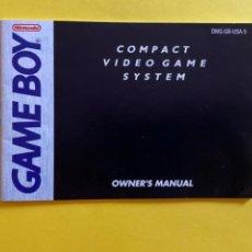 Videojuegos y Consolas: MANUAL DE INSTRUCCIONES GAME BOY OWNER,S MANUAL ENGLISH MANUAL 1989 NINTENDO LIBRETO. Lote 214329367