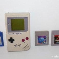 Videojuegos y Consolas: GAME BOY CLASICA NINTENDO CON 3 JUEGOS - FUNCIONANDO. Lote 215889498