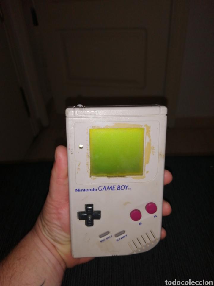 NINTENDO GAME BOY GAMEBOY CLASSIC SIN TAPADERA Y SIN EMBELLECEDOR FUNCIONANDO Y JUEGO TENNIS (Juguetes - Videojuegos y Consolas - Nintendo - GameBoy)