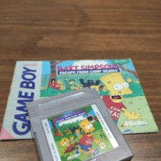Videojuegos y Consolas: BART SIMPSONS ESCAPE FROM CAMP DEADLY GAME BOY INCLUYE MANUAL ORIGINAL. Lote 218911416