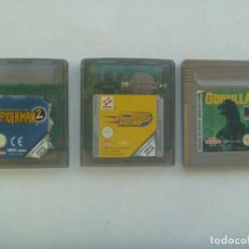 Videojuegos y Consolas: LOTE DE 3 JUEGOS DE GAME BOY Y GAME BOY COLOR, DE NINTENDO: GODZILLA, SPIDERMAN Y PAJARO LOCO. Lote 221464347