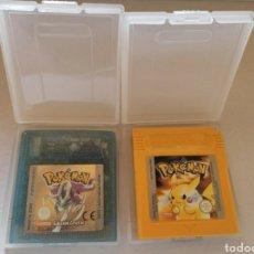Videojuegos y Consolas: 2 JUEGOS GAME BOY COLOR Y GAME BOY. POKEMON EDICIÓN CRISTAL. POKEMON CARTUCHO AMARILLO.. Lote 221466891