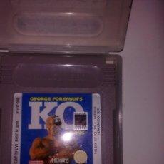 Videojuegos y Consolas: GAME BOY K.O GEORGE FOREMANS. Lote 222375136