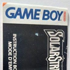 Videojuegos y Consolas: MANUAL INSTRUCCIONES ORIGINAL GAME BOY. Lote 231663315