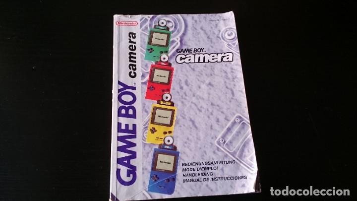MANUAL DE INSTRUCCIONES DE LA CÁMARA GAME BOY NINTENDO (Juguetes - Videojuegos y Consolas - Nintendo - GameBoy)