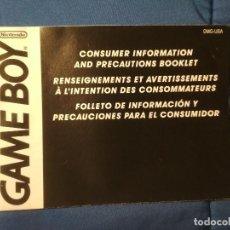 Videojuegos y Consolas: INFORMACIÓN - GAMEBOY. Lote 233010475