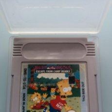 Videojuegos y Consolas: JUEGO COMPATIBLE CON NINTENDO GAMEBOY BART SIMPSOMS ESCAPE FROM CAMP DEADLY 1990 FUNDA TRANSPARENTE. Lote 233645735