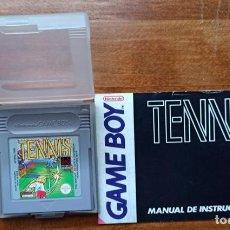 Videojuegos y Consolas: JUEGO PARA GAME BOY TENNIS ORIGINAL NINTENDO 1991 CON LIBRO DE INSTRUCCIONES. Lote 235657640