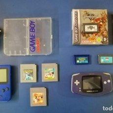 Videojuegos y Consolas: GAME BOY POCKET + ADVANCE + JUEGOS (LOTE 2). Lote 235689635