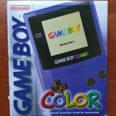 Videojuegos y Consolas: CONSOLA GAME BOY COLOR MODELO Nº GB-001 1999. EDICION COLOR MORADO CAJA E INSTRUCCIONES. Lote 238606365