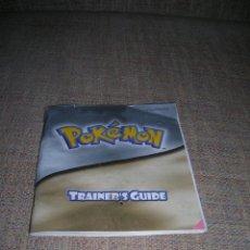 Videojuegos y Consolas: POKÉMON TRAINER'S GUIDE. GAME BOY 2001. GUÍA DEL ENTRENADOR. NINTENDO ESPAÑA. PRINTED IN GERMANY.. Lote 242369640