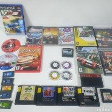 Videojuegos y Consolas: LOTE JUEGOS CONSOLA VARIADO. NINTENDO PALY STATION SEGA SATURN CAJA F1 06 VACIA LAS OTRAS LLENAS.. Lote 243042595