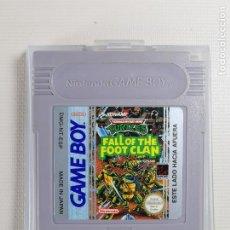 Videojuegos y Consolas: JUEGO PARA CONSOLA NINTENDO GAMEBOY GAME BOY--TURTLES FALL OF THE FOOT CLAN. Lote 244739910