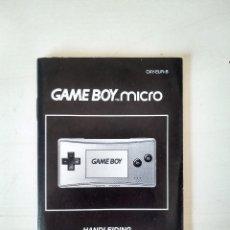 Videojuegos y Consolas: GAMEBOY MICRO - MANUAL DE INSTRUCCIONES - GAME BOY - NINTENDO. Lote 244761330